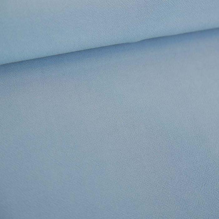 Tissu viscose uni - bleu ciel x 10 cm