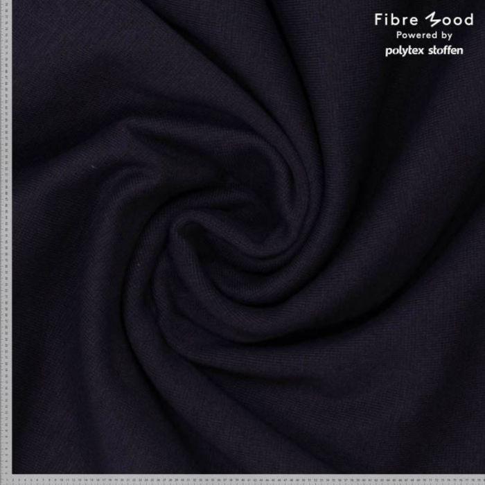 Tissu fibre de bambou noir - Fibre Mood x 10 cm