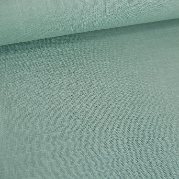 Tissu ramie Linen look - céladon  x 10cm