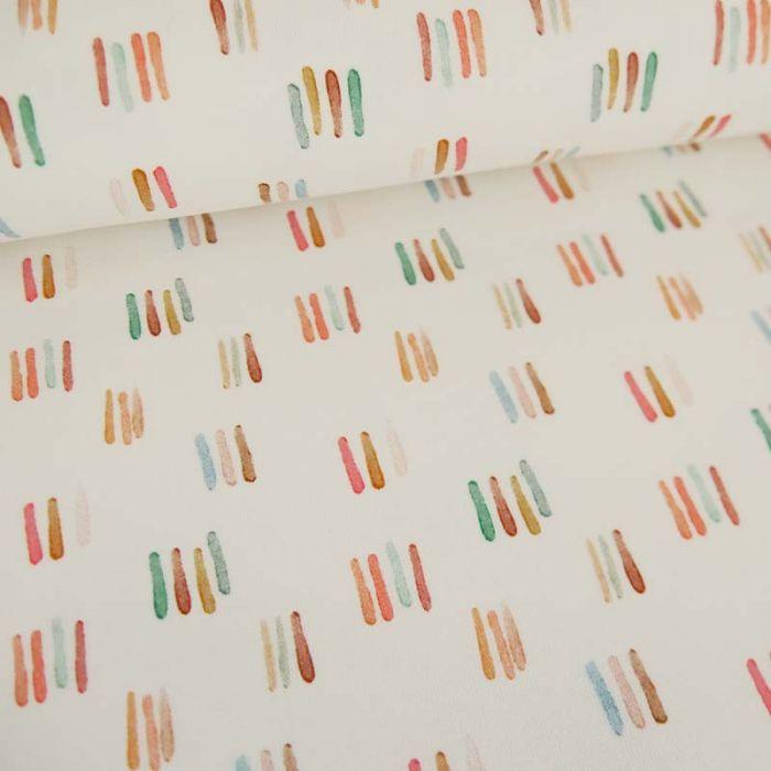 Tissu jersey bio stripes - écru  x 10 cm