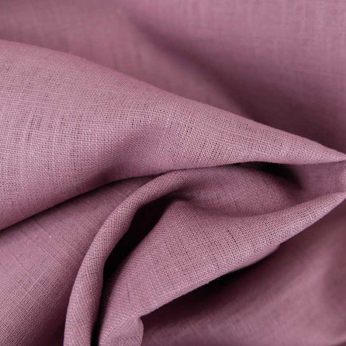 Tissu ramie Linen look - lilas x 10cm