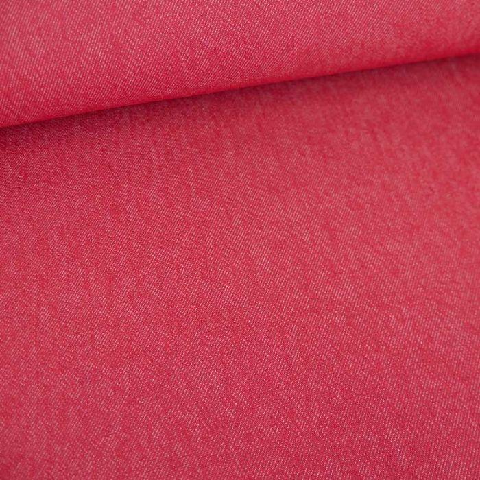 Tissu jean denim - rouge x 10 cm