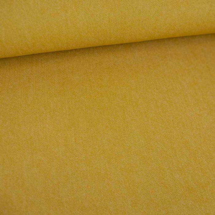 Tissu jean denim - moutarde x 10 cm