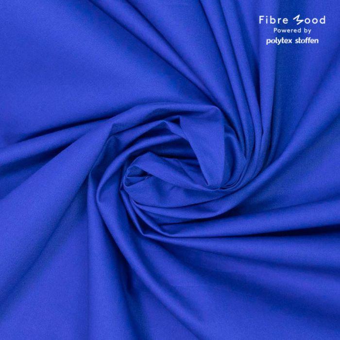 Tissu popeline de coton bleu roi - Fibre Mood x 10 cm