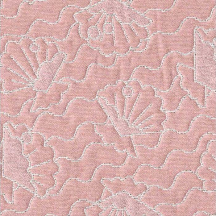 Tissu jacquard Seashell corail - Studio Walkie Talkie x 10 cm