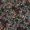 Tissu coton fleuris Olbia - beige x 10 cm