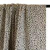 Tissu popeline de coton léopard - blanc x 10 cm