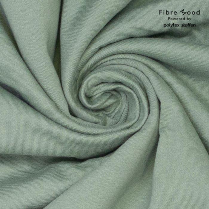 Tissu jersey gratté vert sauge - Fibre Mood x 10 cm