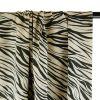 Tissu viscose zèbre lurex - haute couture x 10 cm