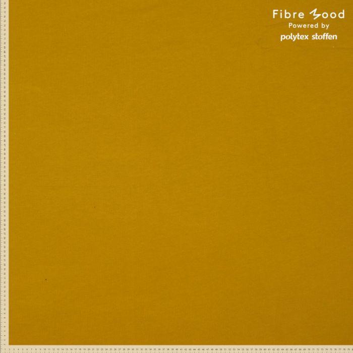 Tissu bord-côte tubulaire moutarde - Fibre Mood x 10 cm