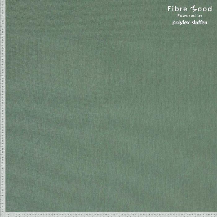 Tissu bord-côte tubulaire vert sauge - Fibre Mood x 10 cm