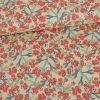 Tissu popeline coton Elma- rouge x 10 cm