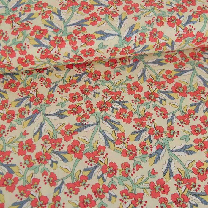 Tissu popeline coton Elma  - rouge x 10 cm