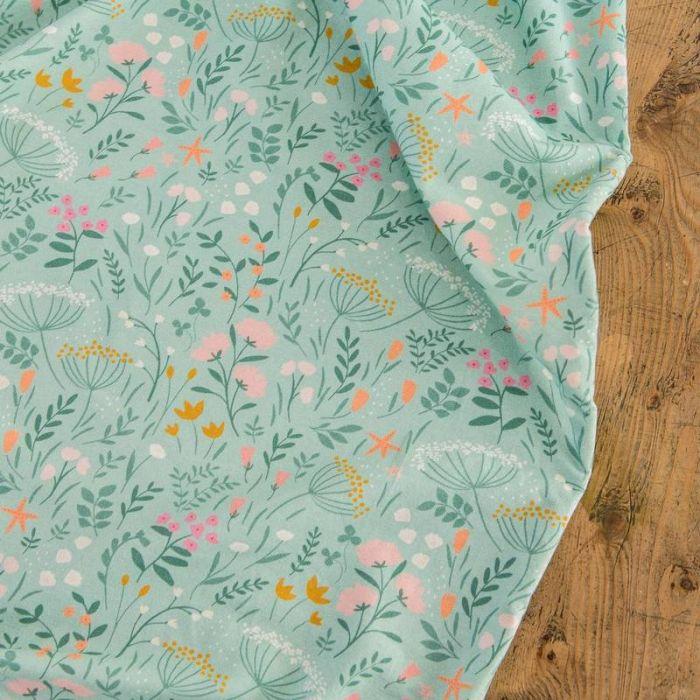 Tissu jersey bio In Bloom - Lise Tailor x 10 cm
