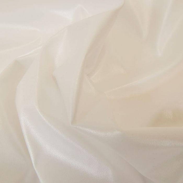 Tissu PUL imperméable stretch - blanc x 10 cm