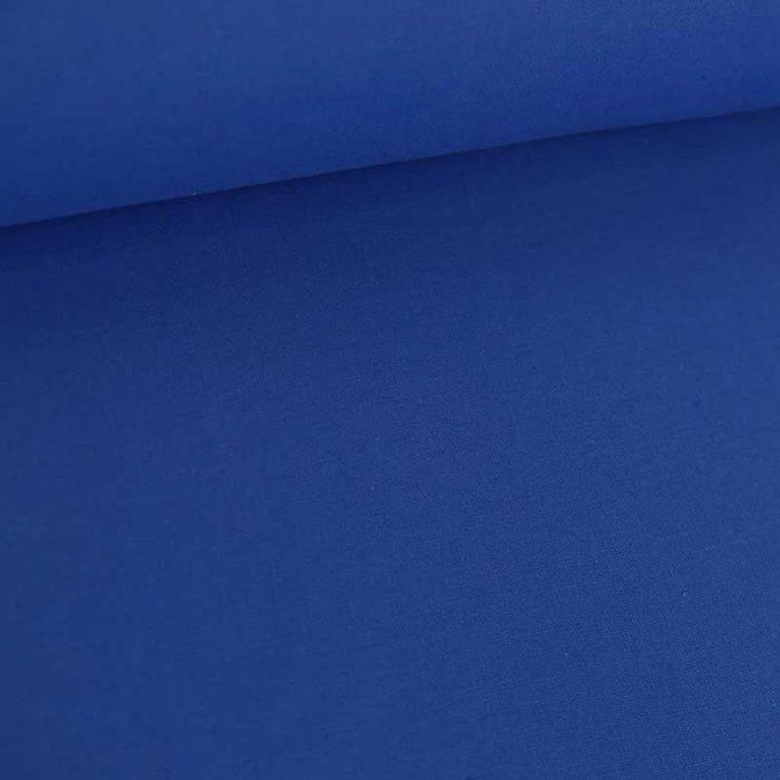 Tissu coton uni - bleu saphir x 10 cm