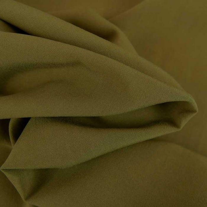 Tissu viscose uni - olive x 10 cm