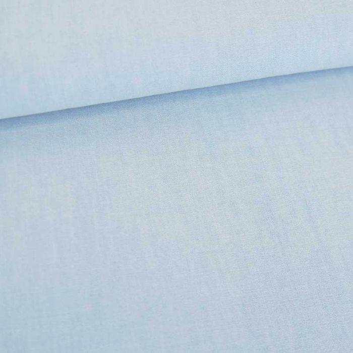 Tissu chambray bleu ciel - Fibre Mood x 10 cm