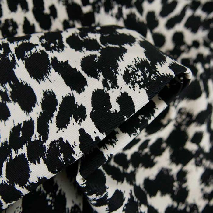 Tissu denim stretch brush - noir x 10 cm