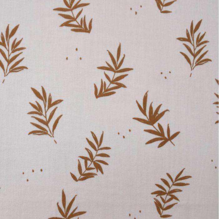 Tissu double gaze Charmille Nude - Cousette x 10 cm