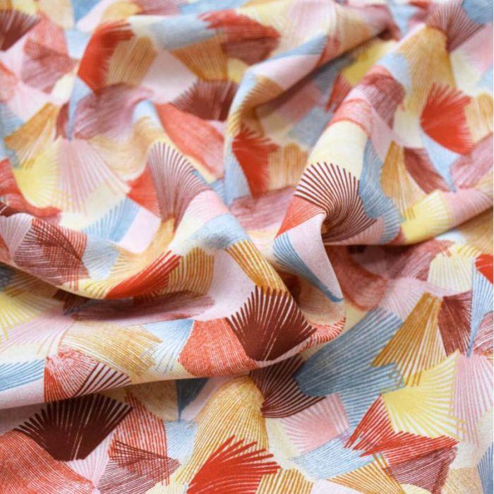 Tissu viscose Kaléidoscope Spritz - Cousette x 10 cm