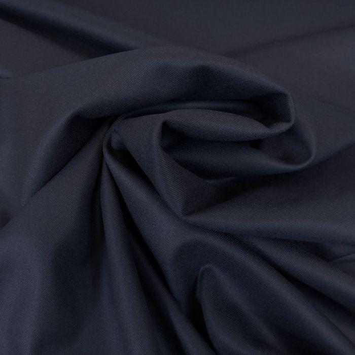 Tissu twill bambou polyester recyclé - bleu marine x 10 cm