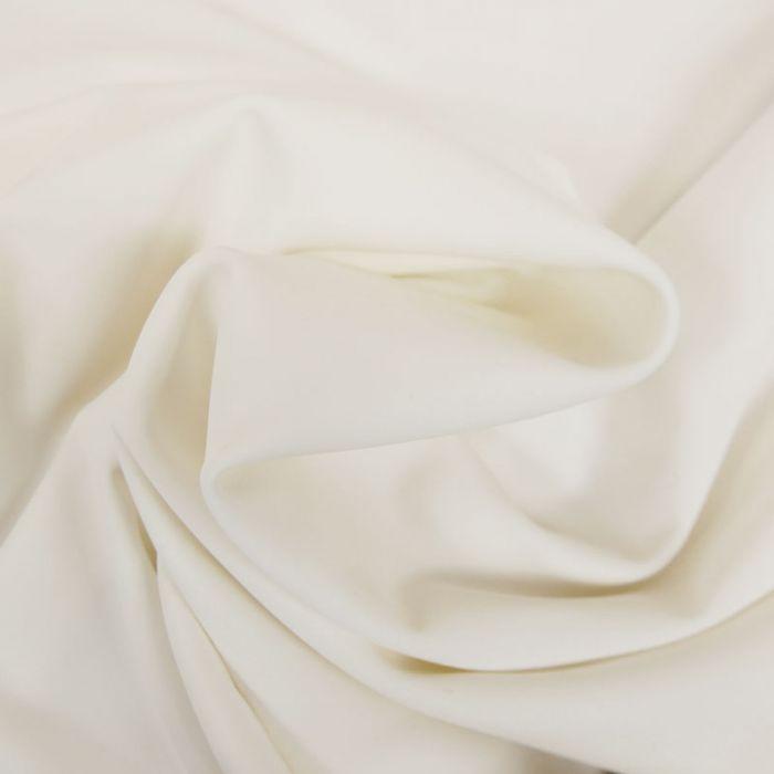 Tissu maillot de bain uni - blanc x 10 cm