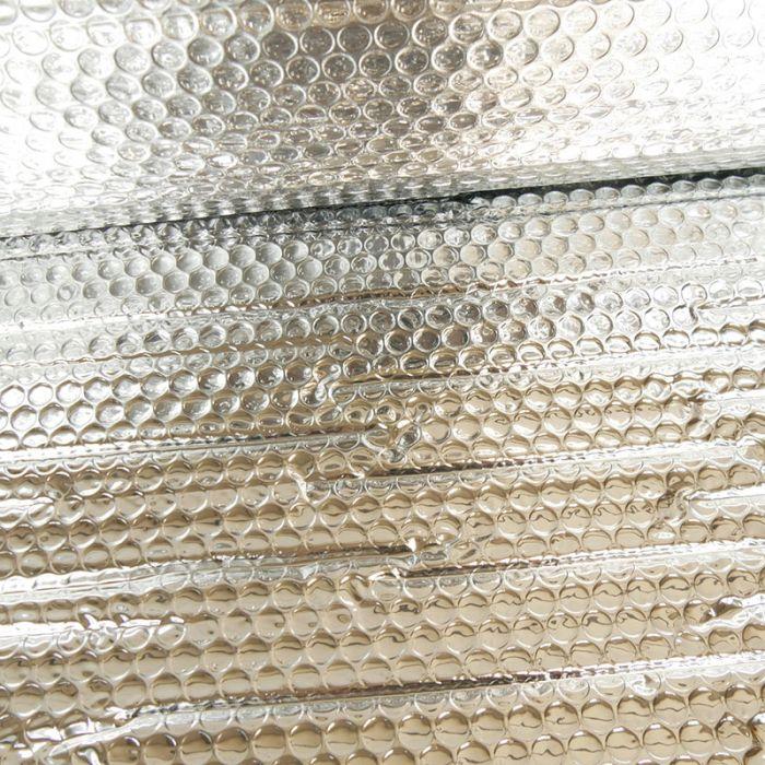 Tissu film isolant thermique 5mm - argent x 10 cm