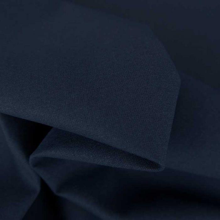 Tissu cretonne bio uni - bleu marine x 10cm