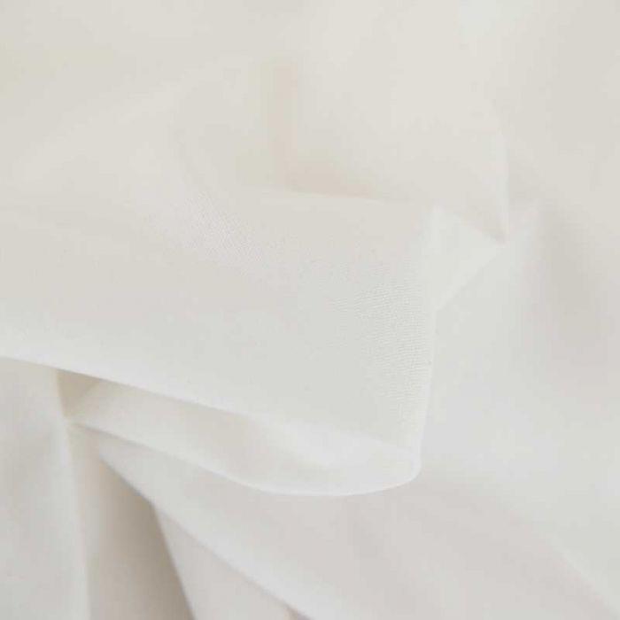 Tissu cretonne bio uni - blanc x 10cm