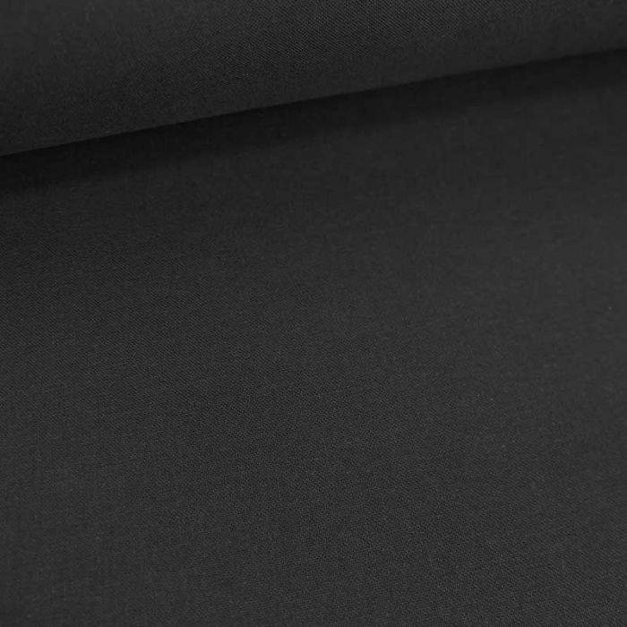 Tissu cretonne bio uni - noir x 10cm