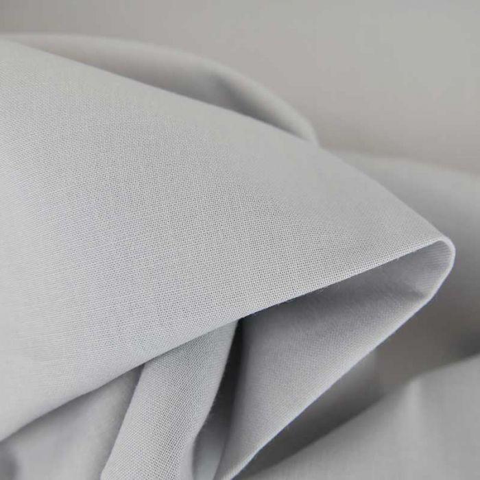 Tissu cretonne bio uni - gris x 10cm