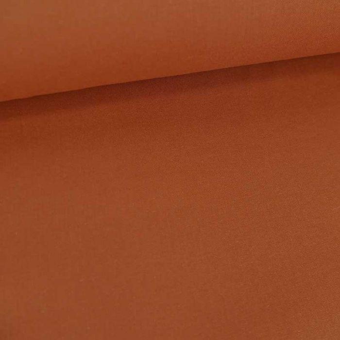 Tissu cretonne bio uni - terracotta x 10cm