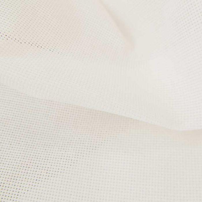 Tissu toile à broder Aïda 5,5 pts - blanc x 10cm