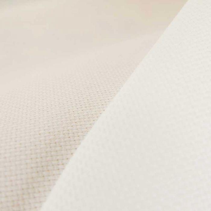 Tissu toile à broder Aïda 7,2 pts - blanc x 10cm