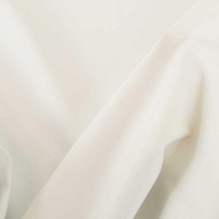 Tissu doublure satin occultant - Blanc x 10 cm