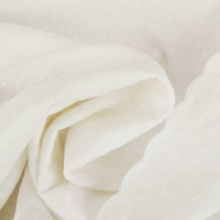 Tissu broderie anglaise Nora - écru x 10 cm