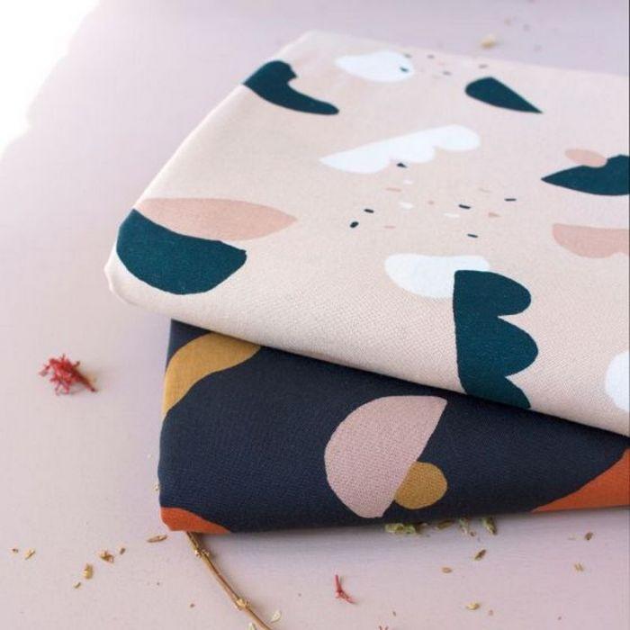 Tissu Oasis Blush - Atelier Brunette x 10 cm