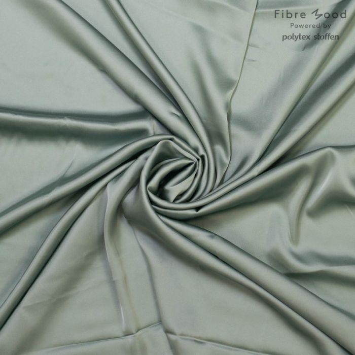 Tissu viscose satinée vert de gris - Fibre Mood x 10 cm