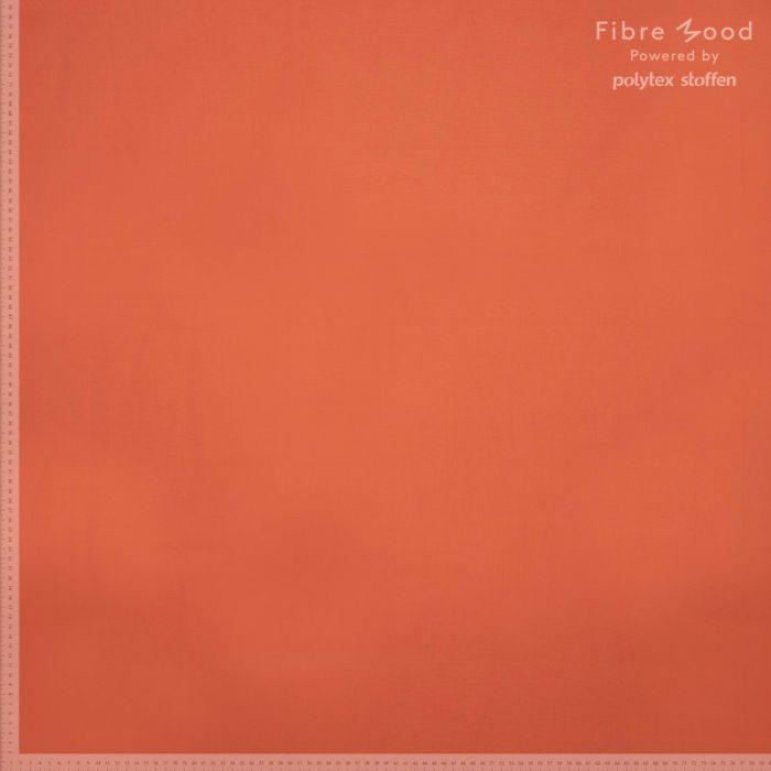Tissu popeline de coton orange - Fibre Mood x 10 cm