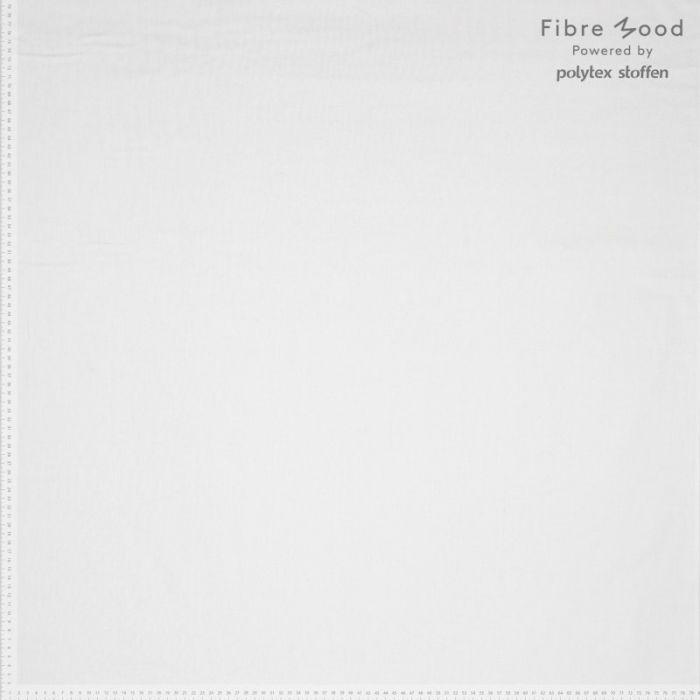 Tissu popeline de coton stretch blanc cassé - Fibre Mood x 10 cm