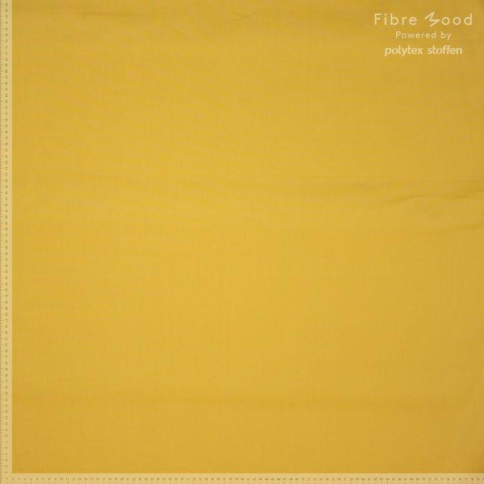 Tissu popeline de coton stretch jaune - Fibre Mood x 10 cm