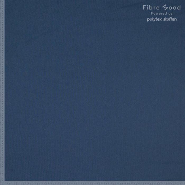 Tissu popeline de coton stretch bleu marine - Fibre Mood x 10 cm
