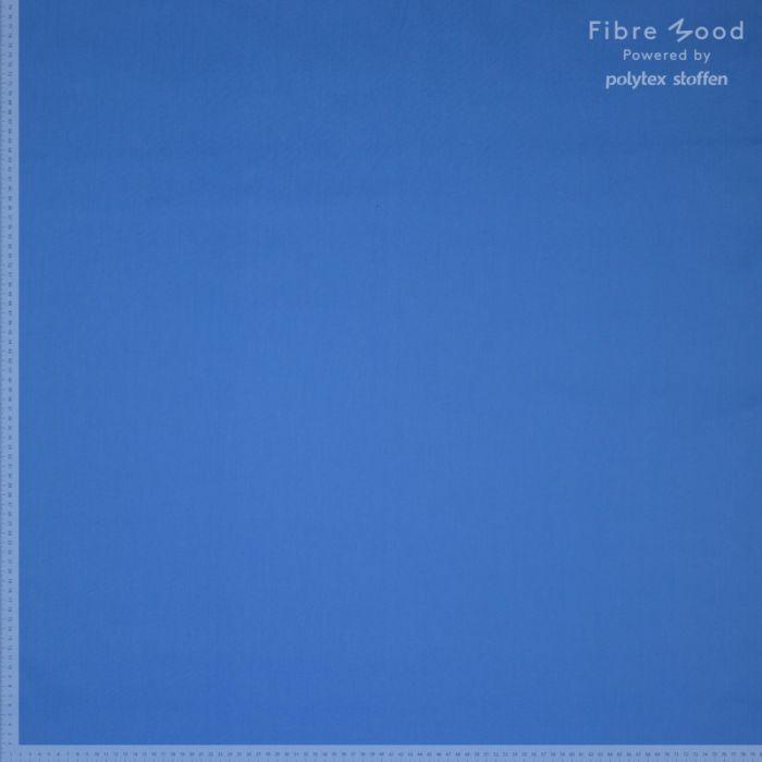 Tissu popeline de coton stretch bleu - Fibre Mood x 10 cm