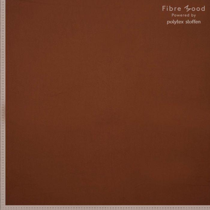 Tissu crêpe de viscose marron - Fibre Mood x 10 cm