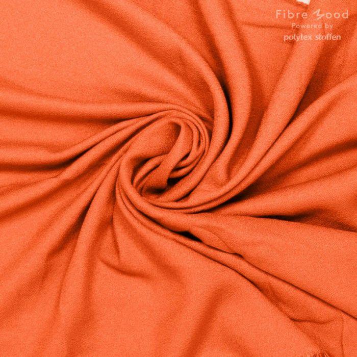 Tissu crêpe de viscose orange - Fibre Mood x 10 cm