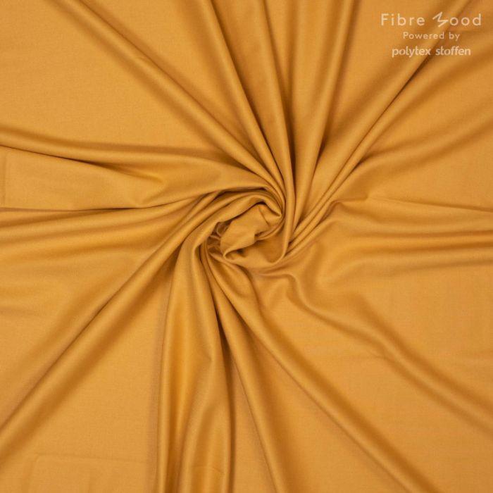 Tissu fibre de bambou moutarde - Fibre Mood x 10 cm