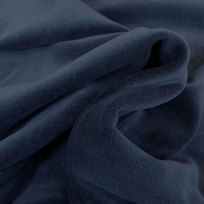 Tissu jersey velours nicky - bleu marine x 10 cm
