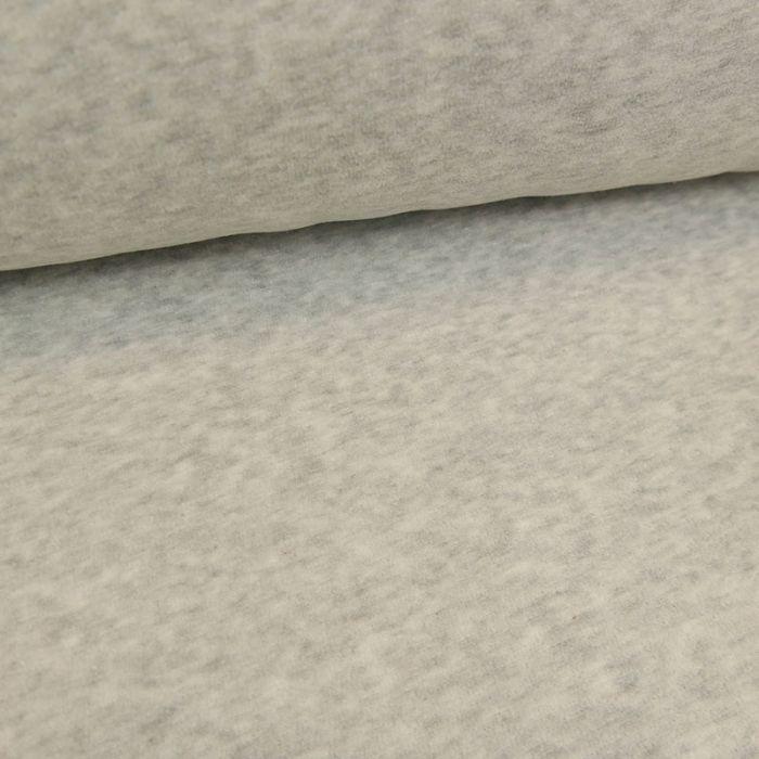 Tissu jersey velours nicky - gris clair x 10 cm