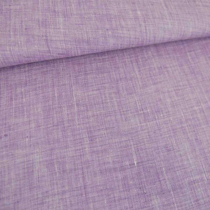 Tissu lin chiné haute couture - lavande x 10cm